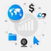 High-tech business stickers — Stock Vector