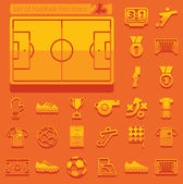 Set of football flat icons — Vettoriale Stock