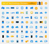 Set of technology stickers — Stock Vector