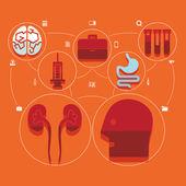 Infographie plat médical — Vecteur