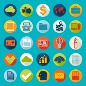 Pictogrammen bedrijfs van de — Stockvector