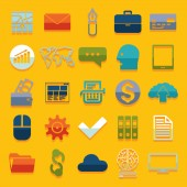 Business flat icons — Vector de stock