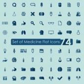 Ícones chatos médicos — Vetor de Stock
