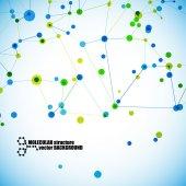 Estructura molecular — Vector de stock