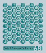 Tourism flat icons — Stock Vector