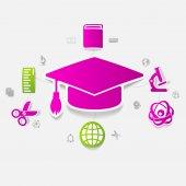教育贴纸图 — 图库矢量图片