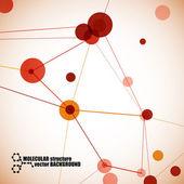 Moleküler yapısı — Stockvector