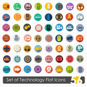 Technology flat icons — Vetorial Stock