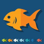 Flat design: fish — Stock Vector
