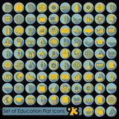 教育平面图标 — 图库矢量图片