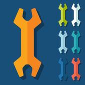 Flat design: wrench — Cтоковый вектор