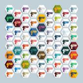 Flat design: gun game — Stock Vector