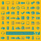 Technology flat icons — ストックベクタ