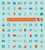 Education flat icons — Stockvektor