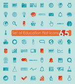 Education flat icons — Vector de stock