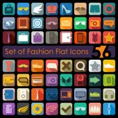Fashion flat icons — Stock Vector