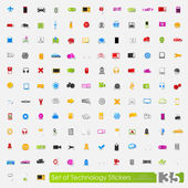 Technology stickers — 图库矢量图片