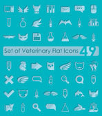 Veterinary flat icons — Vetorial Stock