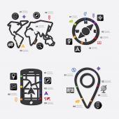 Navigation infographic — Stock Vector