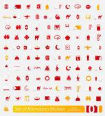 Ramadan stickers — 图库矢量图片