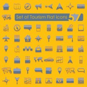 Tourism flat icons — Stockvektor