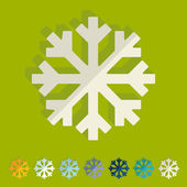 Flat design: snowflake — Stock Vector