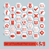 Football flat icons — Vettoriale Stock