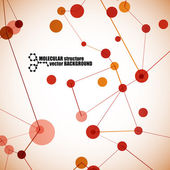 Beautiful molecular structure — Vector de stock