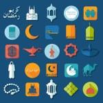 Flat icons: Ramadan Kareem — Stock Vector #55766583