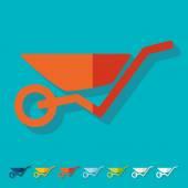 Flat design: wheelbarrow — Stock Vector
