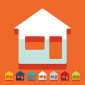 Flat design: house — Stock Vector