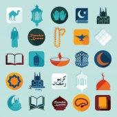 Flat icons: Ramadan Kareem — Vettoriale Stock