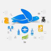 Veterinary sticker infographic — Wektor stockowy