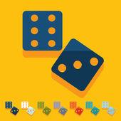 Flat design: dice — Stock Vector