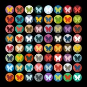 Flat design: butterfly — Wektor stockowy