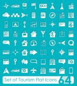 Set of tourism flat icons — 图库矢量图片