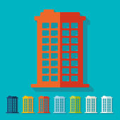 Flat design: building — Stockvector