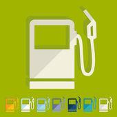 Flat design: gas station — Stock Vector