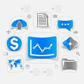 Концепция хай тек бизнеса — Cтоковый вектор