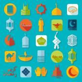 Flat icons: Ramadan Kareem — Vecteur