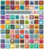 Set of tourism flat icons — Stock Vector
