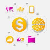 деловая инфографика этикетки — Cтоковый вектор