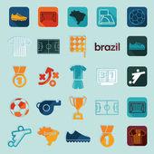 футбол инфографики — Cтоковый вектор