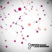 Beautiful molecular structure — ストックベクタ