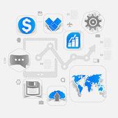 High-tech business concept — Stock Vector