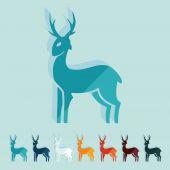 Flat design: deer — Stock Vector