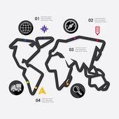 Navigazione infografica — Vettoriale Stock