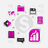 High-tech business concept — Stock Vector