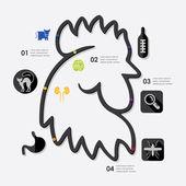 Veterinary infographic — Vetorial Stock
