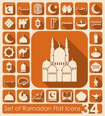 Ramadan flat icons — Stock Vector